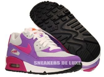 345017-016 Nike Air Max 90 Pure Platinum/Fusion Pink/Laser Purple 345017-016