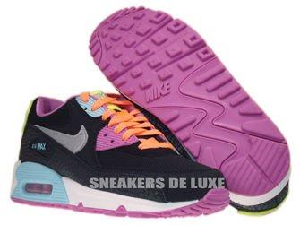 345017-063 Nike Air Max 90 Black/ Metalllic Silver- Red Volt- Glacier Ice