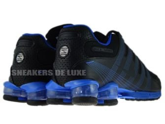 407155-004 Nike Shox NZ 2.0 Black/Black-Lyon Blue
