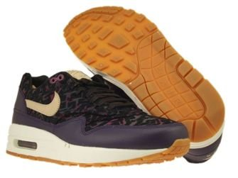 454746-500 Nike Air Max 1 Premium Purple Dynasty/Linen-Black-Raspberry Red