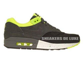 512033-002 Nike Air Max 1 Premium Black/Anthracite-Anthracite-Volt