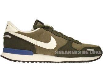 532495-340 Nike Air Vortex Leather Steel Green/Cargo Khaki/Dk Royal Blue