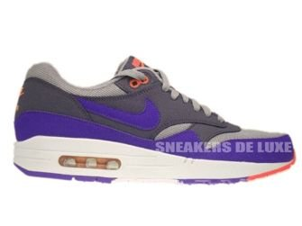 537383-006 Nike Air Max 1 Essential Medium Grey/UltramarineDark Grey-Solar Red
