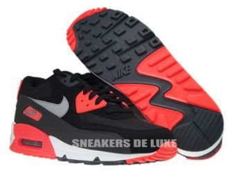 537384-006 Nike Air Max 90 Essential Black/Wolf Grey-Atomic Red-Anthracite