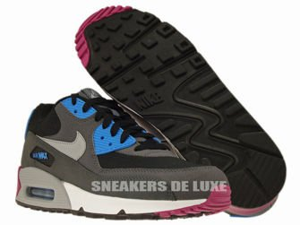 537384-009 Nike Air Max 90 Essential Black/Wolf Grey-Anthracite-White