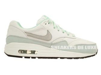 653653-105 Nike Air Max 1 White/Metallic Silver-Anthracite-Medium Mint