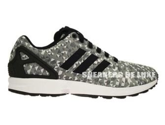 B34472 adidas ZX Flux Weave White/Core Black/Solid Grey