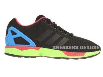 B34490 adidas ZX Flux Core Black / Core Black / Solar Green