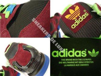 D65499 Adidas ZX 9000 Torsion Dark Brown/Macaw/Zest