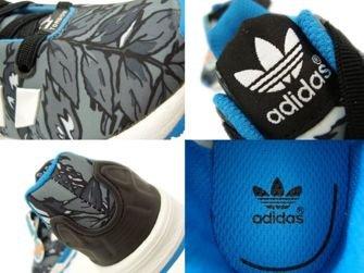M19402 adidas ZX Flux EL Infants Core Black / Running White / Solar Blue