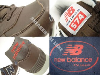 ML574NM New Balance 574 Brown / Navy Leather