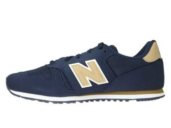 New Balance KJ373ATY Navy with Tan