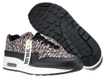 Nike Air Max 1 Premium 875844-009 Black/Total Orange/White