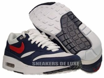 Nike Air Max 1  White/Gym Red/Thunder Blue