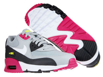 Nike Air Max 90 833418-027 Wolf Grey/White-Rush Pink-Volt