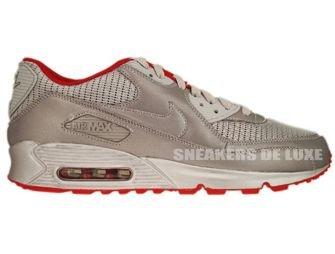 Nike Air Max 90 Metallic Silver/Sport Red