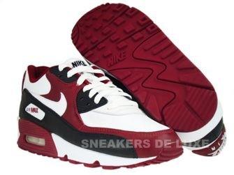 Nike Air Max 90 Premium White-White-Team Red-Black 333888-101