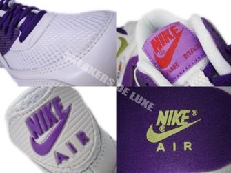 Nike Air Max 90 White/Metallic Gold Crt Purple 345017-112