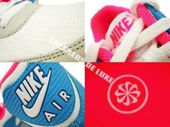 Nike Air Max 90 White/Pink Flash-Marina Blue 309298-104