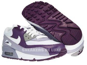 Nike Air Max 90 White/White-Provence Purple-Wine 325213-108
