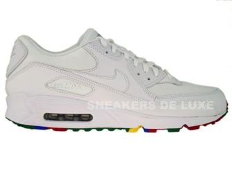 Nike Air Max 90 White/White-Varsity Red 325018-111