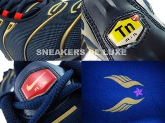 Nike Air Max Plus Tn 1 Obsidian Sport Red Metallic Gold Black