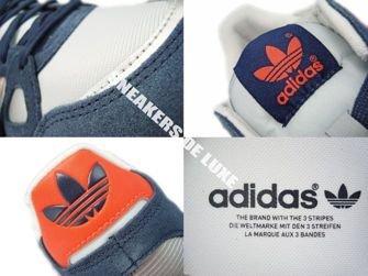 Q35491 Adidas ZX 750 Originals Light Grey/Infrared/New Navy