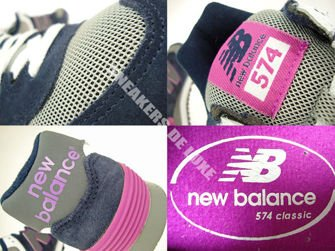 WL574SBS New Balance 574 Navy / Purple / Grey